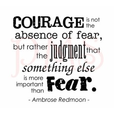 Courage with judgment