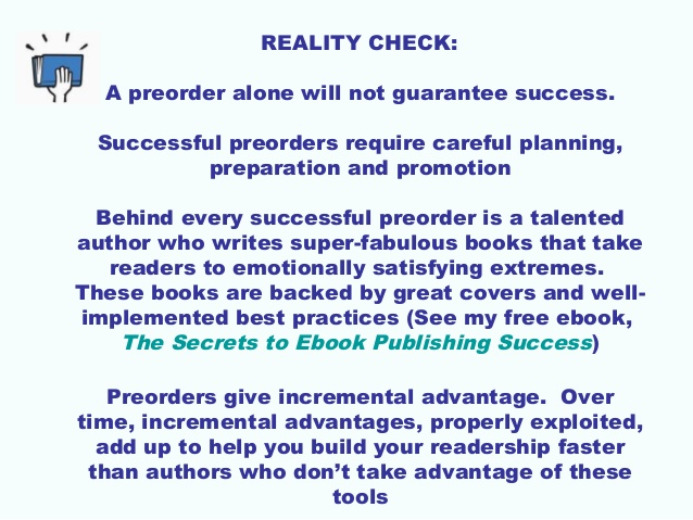 Why My First Experience with Using #Pre-Orders Will Help Get My NEXT #Ebook Higher on #Best-Seller Lists  (4/6)
