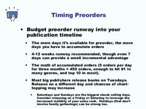 preorder timing