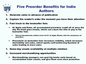 preorders 5 benefits 1