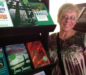 Lorrie with books