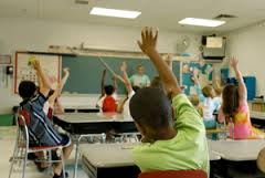 Substitute middle school hands up