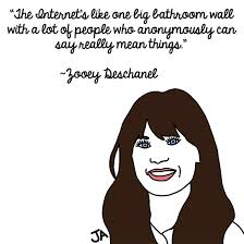 Zooey Deschanel quote about trolls