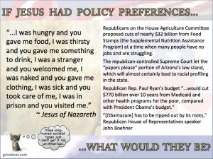Jesus policy preferences