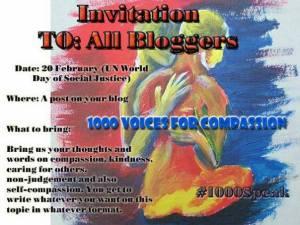 1000 voices Compassion invitation