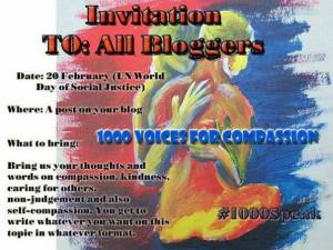 1000 voices Compassion invitation