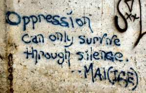 oppression wins via silence