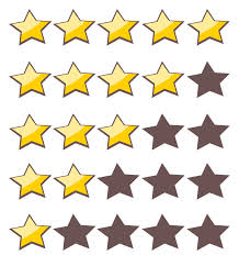 5 stars and lower