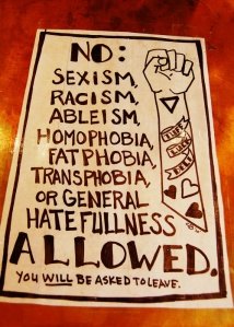 no isms allowed