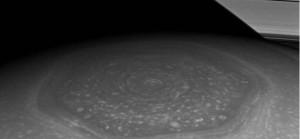 Cassini photo Saturn hexagon
