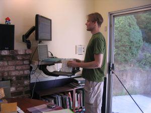 ergonomic desk set up