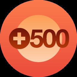 500 follows