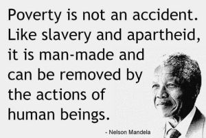 Mandela quote about poverty