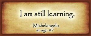 Michelangelo still learning