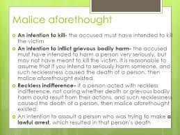 malice aforethought