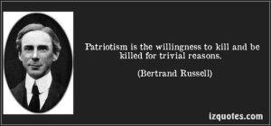 Bertrand Russell patriotism