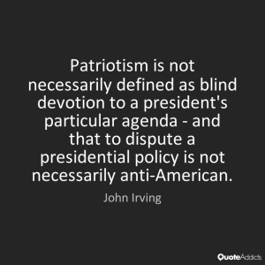 John Irving on patriotism