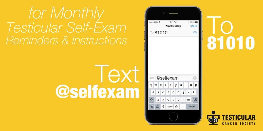 self-exam reminder text